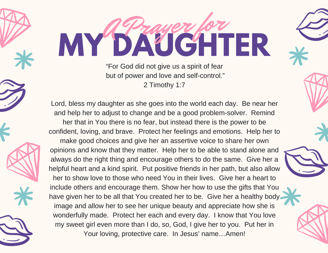 Back To School Prayer For Your Daughter