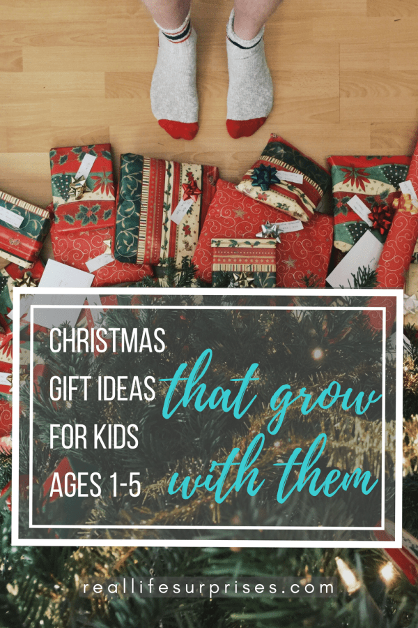 Terrific Christmas Gifts for Ages 1-5 that Grow with Them