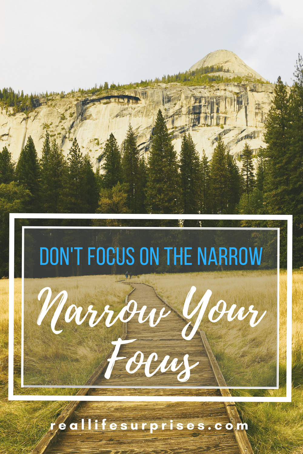 Narrow your focus, New Year