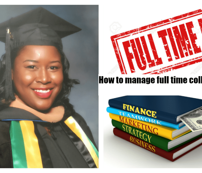 Top 3 tips for the full time working college student