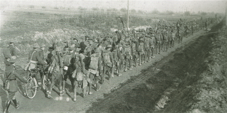 British Troops Marching to the Somme