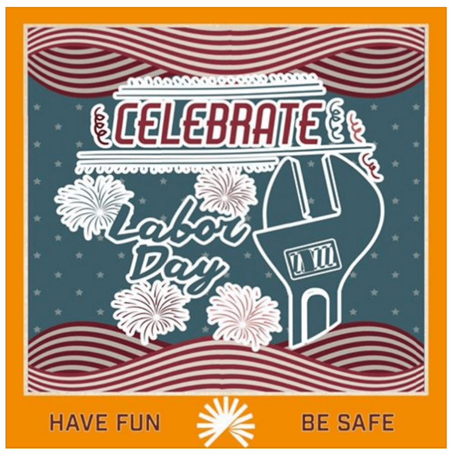 Rachel Moore designed a custom Labor Day post for Colorado HealthOP.