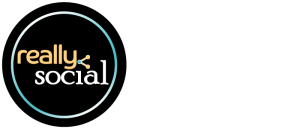 Really Social   your social media solution. really. (2016 logo with tagline)
