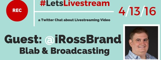 #LetsLivestream with @iRossBrand