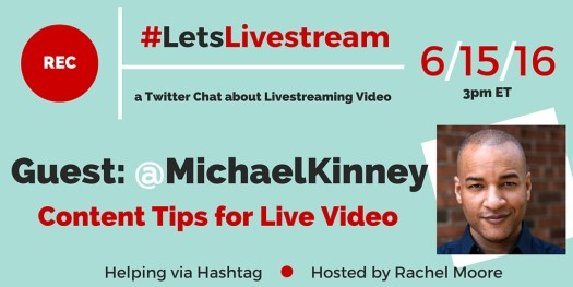 #LetsLivestream Twitter Chat with guest Michael Kinney | Really Social