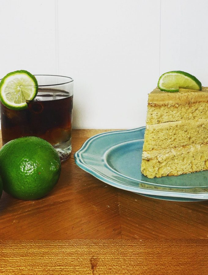 Dark & Stormy Cocktail Cake