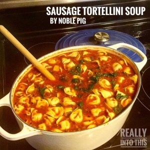 Pinterest Dill Pickle & Sausage Tortellini Soups by Noble Pig