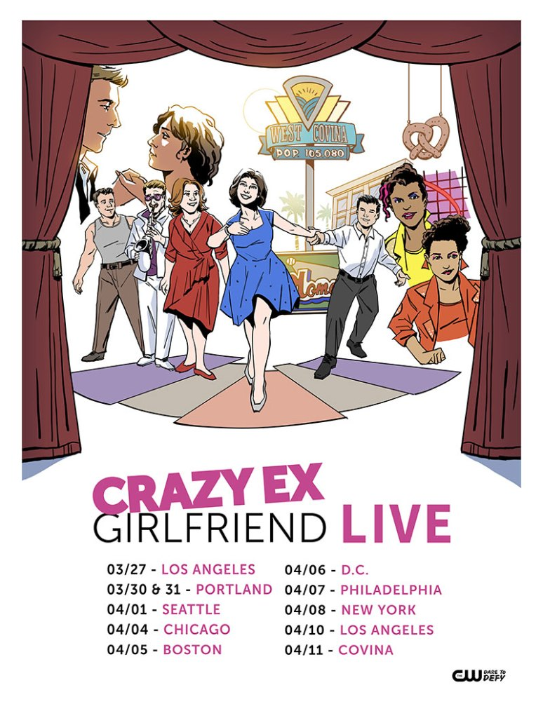Crazy Ex-Girlfriend Live Tour Poster really Into This Blog Rachel Bloom