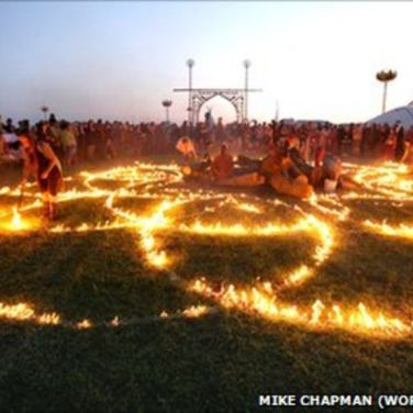 sunrise mandala fire