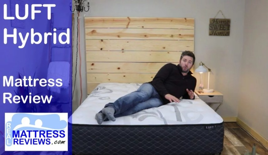 Luft Mattress Review l Luft Hybrid Review   Discount Code Luft Hybrid Video Review  luft mattress