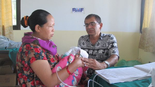 Laxmi Bhuiel on day 1 of treatment