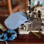 Sewing Machine with Project in Progress