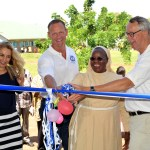 Cutting the Ribbon for New Mama Kevina School Building