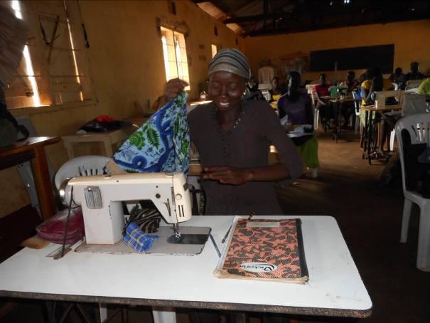 Tailoring Student in Kiryandongo