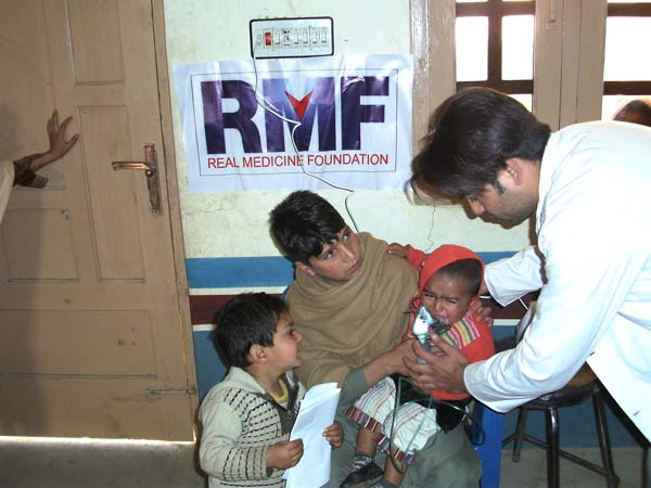 child receiving medical care