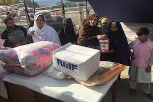 women with supplies in pakistan