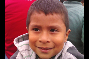 Peru Boy in Gray Jacket