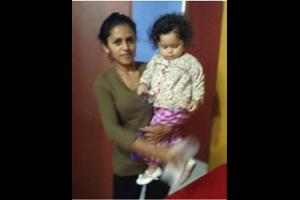 Ingrid Laura Castillo with small girl