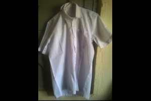 White Shirt Made by Trainee