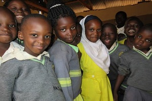 young school children in uganda