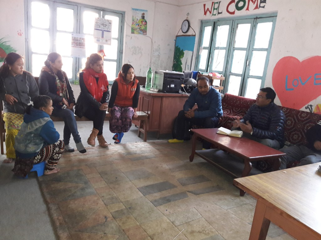 RMF Nepal's Program Manager and M&E Manager meeting with Dididai project staff