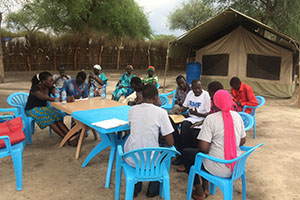 south sudanese village