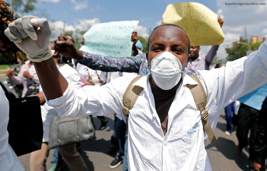 Nigerian health workers on strike include midwives, nurses, laboratory technicians, and pharmacists, among others