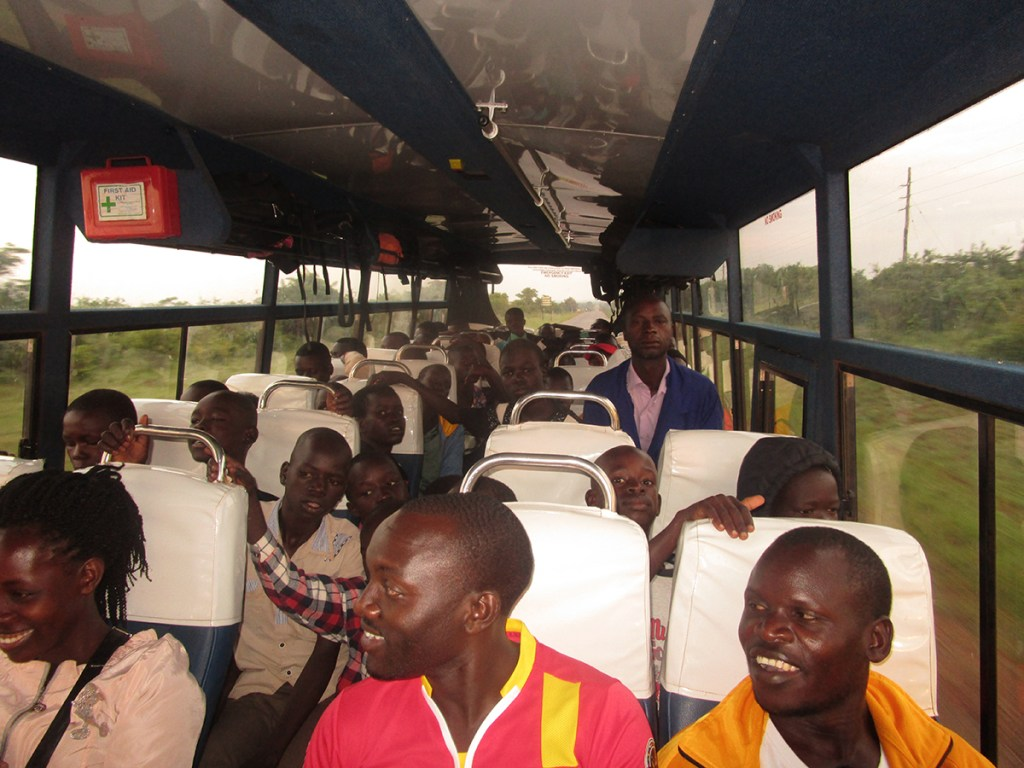 Traveling for a soccer match in Gulu, northern Uganda