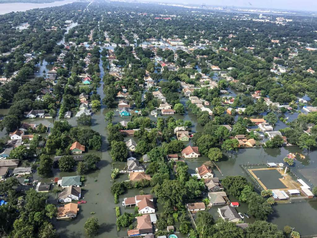 Outskirts of Houston after Hurricane Harvey, Photo by SC National Guard