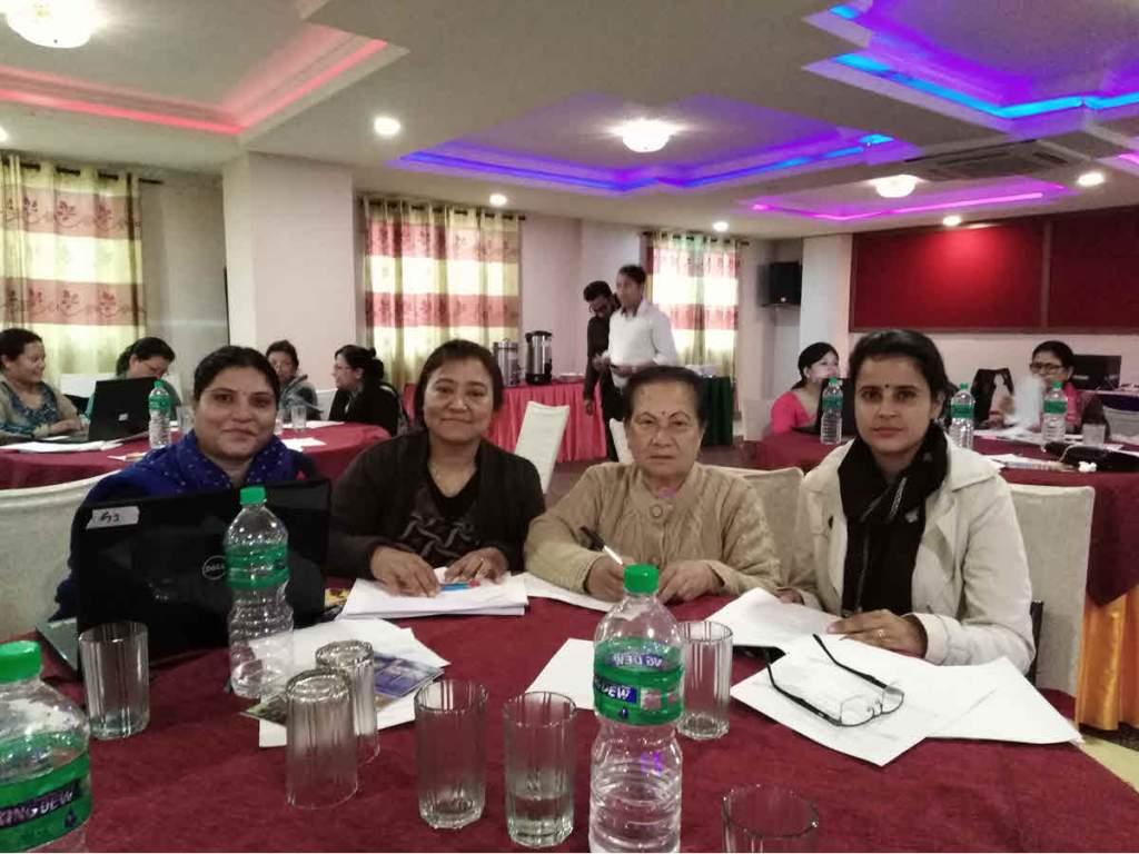RMF Program Coordinator Pragya Gautam (right)  participating in the workshop