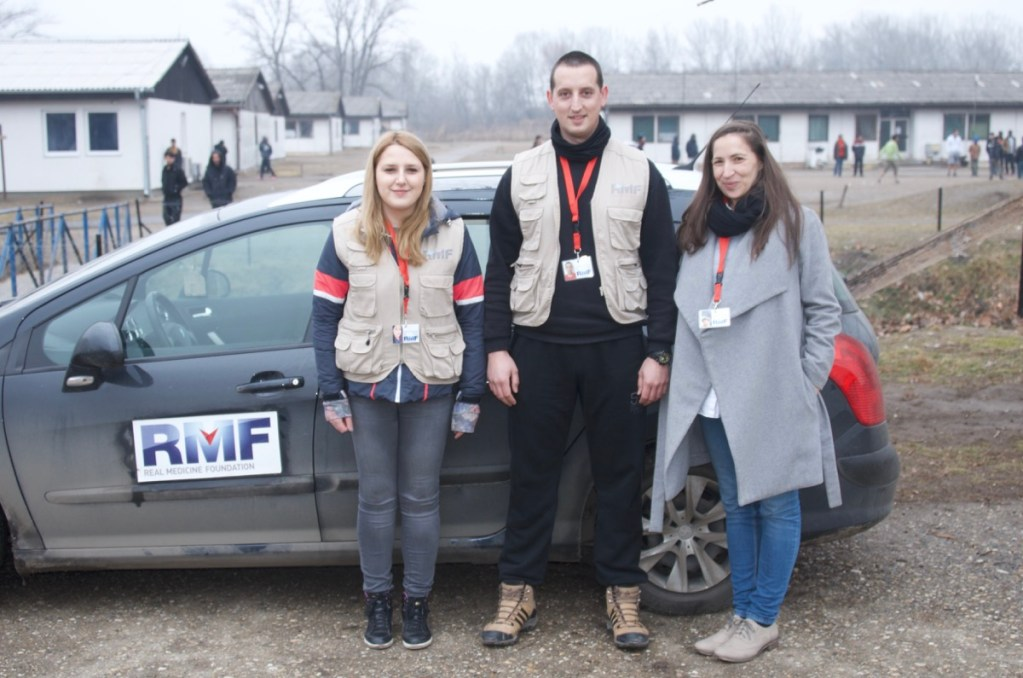 RMF management team at Krnjača Refugee Camp, Belgrade
