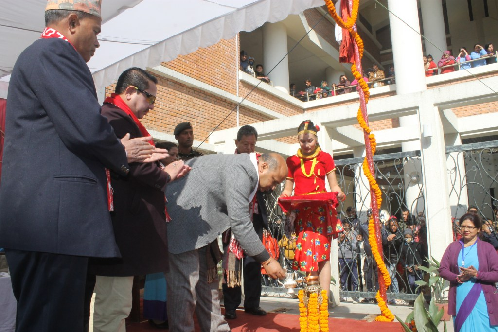 AS Nepal KCH Q1 2019 Hon'ble State Minister Inaugurating the program at Kanti Hospital