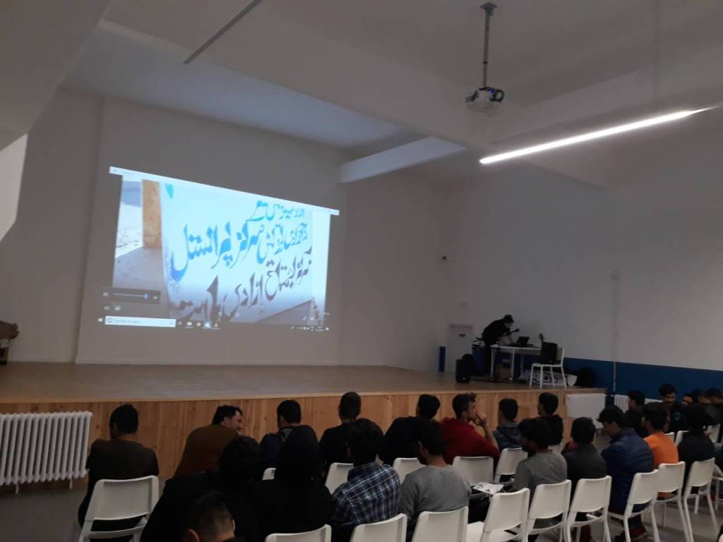 Our parners organized a movie night at the new movie theater in the renovated building