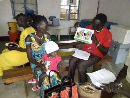 AF South Sudan MTP Q3 2019 RMFs locally trained staff providing individual counselling on breatfeeding practices