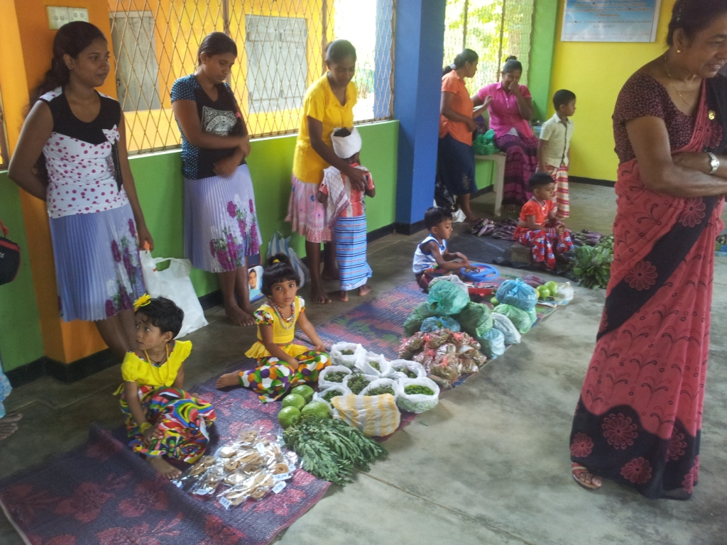 The children learned how to sell their own goods during the fair.