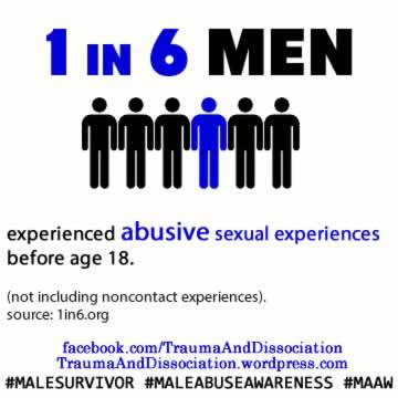 1 in 6 men have been sexualy abused