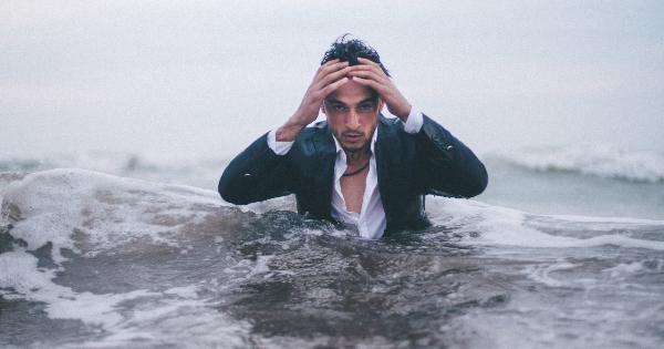 Man in waves