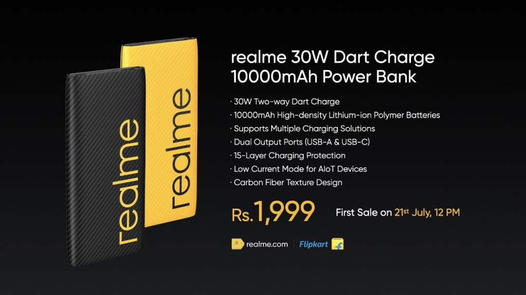 Realme Launched Realme 30W DART Powerbank With 10000mAh, Type-C Port Priced At INR 1,999 - Realmi Updates