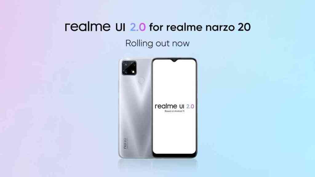 Realme Narzo 20 Stable Android 11 Update Based On Realme UI 2.0 Started Rolling Out - RealmeUpdates.Net