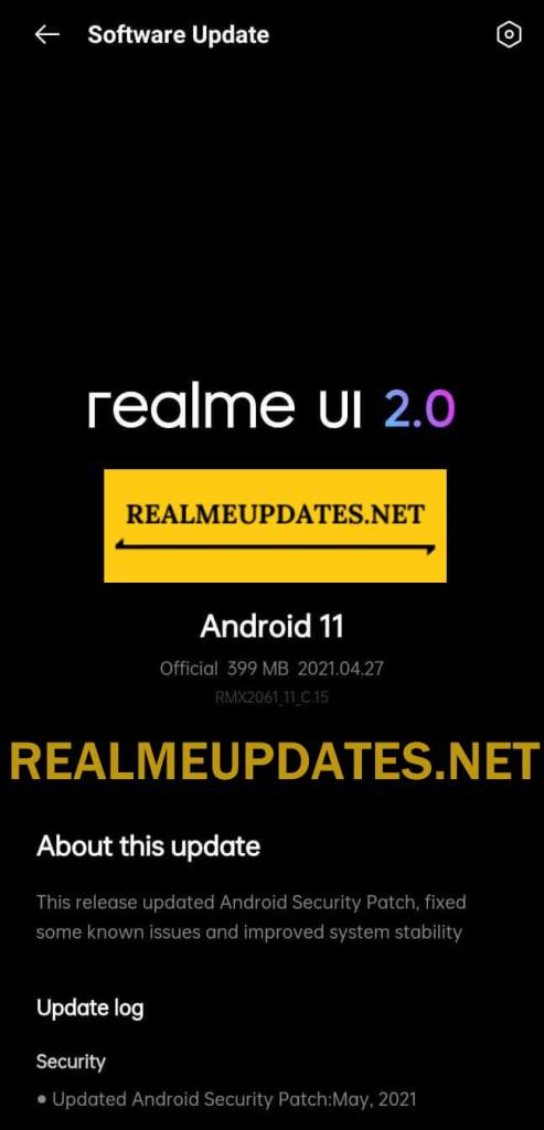 Realme 6 Pro May 2021 Security Update Screenshot - Realme Updates