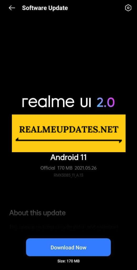 Realme 8 May 2021 Security Update Screenshot - Realme Updates