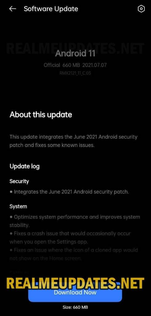 Realme X7 Pro Android 11 Realme UI 2.0 Stable Update Screenshot - Realme Updates