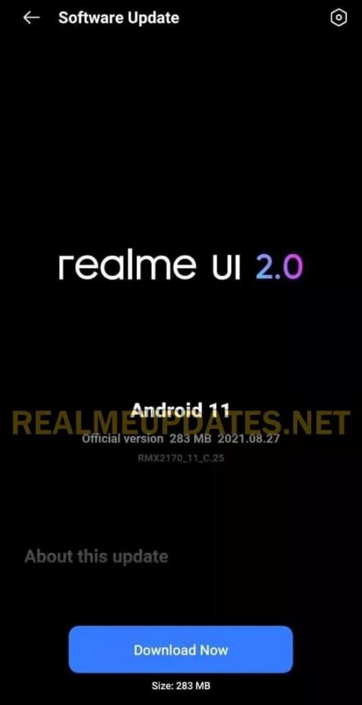 Realme 7 Pro August 2021 Security Update Screenshot - Realme Updates