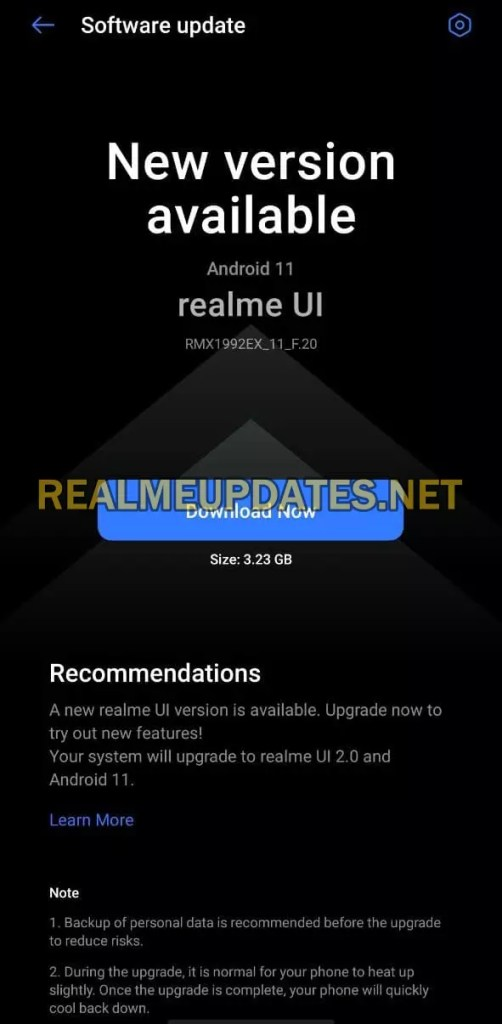 Realme X2 Android 11 Realme UI 2.0 Stable Update Screenshot - Realme Updates