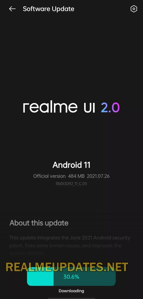Realme X7 5G Android 11 Realme UI 2.0 Stable Update Screenshot - Realme Updates