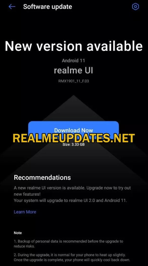 Realme X Android 11 Realme UI 2.0 Stable Update - Realme Updates