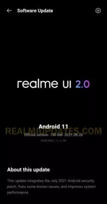 Realme X3 July 2021 Security Update Screenshot - RealmiUpdates