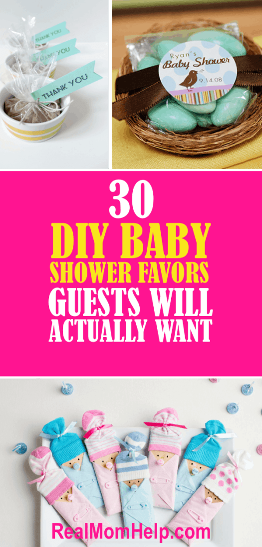 30 diy baby shower favors guests will actually want baby shower favors negle Images