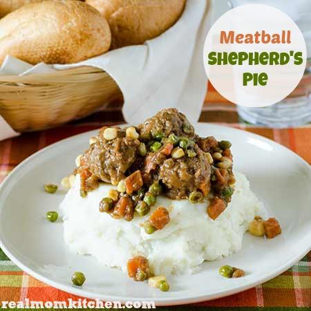 Meatball Shepherds Pie | realmomkitchen.com