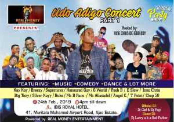 , Upcoming show – KING CHRIS birthday party, REAL MONEY STUDIO